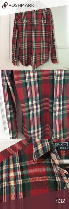 Polo Ralph Lauren Flannel Polo Ralph Lauren Flannel. This is so cute. My brother outgrew it so we're selling. He doesn't wear his clothes much. Great for Christmas. No flaws. Pet/smoke free home. Polo by Ralph Lauren Shirts Casual Button Down Shirts