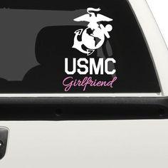 Marine Core Girlfriend Car Decal (1998-CAR)