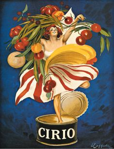 Poster Art - Cirio Vintage French Poster by Leonetto Cappiello (black) Vintage French Posters, Vintage Prints, Vintage Food Posters, Pub Vintage, Vintage Advertising Posters, Vintage Advertisements, Advertising Campaign, Poster A3, Retro Poster