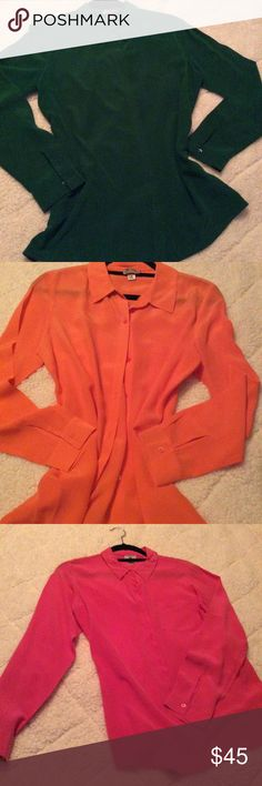 Silk blouse Worthington 100% silk blouses... 3 colors to choose from or buy together Worthington Tops Blouses