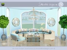 Coastal beachy modern set by SIMcredibledesigns - Sims 3 Downloads CC Caboodle