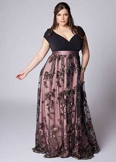 vestidos de festa plus size preto com rosa