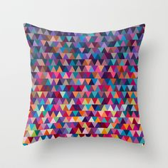 Triangles Throw Pillow by Ornaart - $20.00