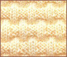 Différents points pour le tricot aux aiguilles