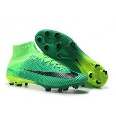 cheap for discount 2814b 15f0b Chaussures De Foot Nike Mercurial Superfly V FG - Vert Noir Jaune Pas Cher