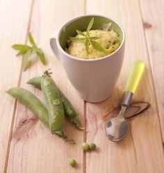 Mug cake aux petits pois et verveine citronnelle - les meilleures recettes de cuisine d'Ôdélices