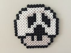 Perler bead mushroom Scream - by Bjrnbr