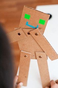 Cardboard Robot Friends