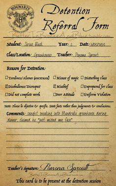 Marauder's detention referral form