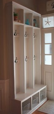 Mud Room Design Ideas, Pictures, Remodel, and Decor - page 32 - shallow cubby areas