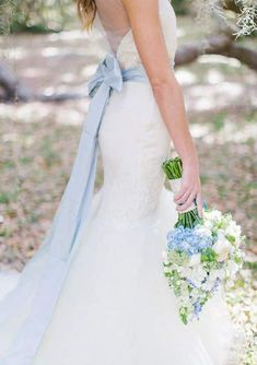 Something blue wedding dress belt Mistakes To Avoid When Accessorizing Wedding Dresses Gourmet Wedding Gifts Personalized Wedding Guest Favors And Customized Bride and Groom Gifts Baby Blue Weddings, Blue Wedding Dresses, Unique Weddings, Wedding Colors, Blue Dresses, Wedding Styles, Wedding Gowns, Wedding Photos, Wedding Dress With Sash