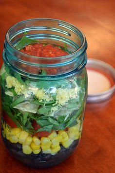taco salad mason jar salad