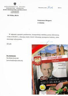 sowa: Prokuratura Generalna Biuro Prokuratora Generalneg...  Tusk za wykorzystywanie służbowego stanowiska na konferencji prasowej premiera do ochrony własnego syna Michała otrzymującego pieniądze od Plichty, Amber Gold (poprzednio używane nazwisko: Stefański),   ----- Original Message -- From: skargi@pg.gov.pl  Sent: Friday, June 27, 2014 8:58 AM…