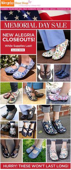 Memorial Day Alegria Shoe closeouts sale! | Alegria Shoe Shop