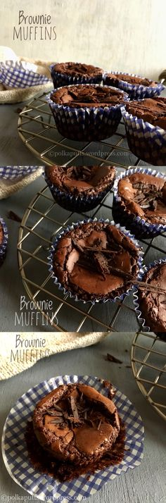 Brownie Muffins  Gooey and so fudgy!                                                                                                                                                                                 More