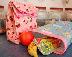 DIY School Lunch Bag: DIY Insulated Fabric Lunch Bag
