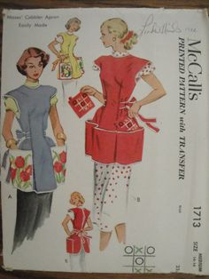 1950's Vintage Cobbler Apron Pattern