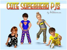 Cute Superhero Pyjamas | akisima sims 3 blog