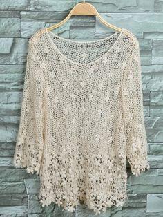 Crochet for women Black White Pattern, White Patterns, Crochet Woman, Crochet Top, Blouse Dress, Yarn Crafts, Crochet Clothes, Pullover, Knitting