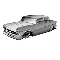 1955 Chevy Project X-Box Update-Popular Hot Rodding Magazine Car Drawing Pencil, Drawing Art, Lowrider Drawings, Cool Car Drawings, Cars Coloring Pages, 1955 Chevy, Truck Art, Garage Art, Classic Chevy Trucks