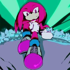 Knuckles protecting the Master Emerald