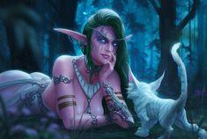 ArtStation - Warcraft Fan Art - Tyrande Whisperwind, Earl Lan World of Warcraft Art Board ^^ // Blizzard // wow // // Digital // Geek // Fantasy Girl, 3d Fantasy, Fantasy Women, Fantasy Artwork, Final Fantasy, Fantasy Characters, Female Characters, Fictional Characters, Mononoke Anime