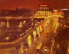 """Autour de l'impressionnisme /Postimpressionnisme/MARQUET/Albert MARQUET """"Le Pont-Neuf la nuit"""""""