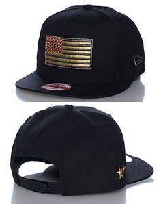 9470c570614 NEW ERA USA FLAG SNAPBACK- BLACK American Flag Patch