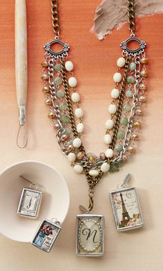 Stillwater Necklace - jade, czech crystal. https://victoriataber.jewelkade.com/Shop/Product/4762