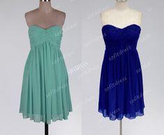 custom bridesmaid dresses, chiffon bridesmaid dress, sweet heart bridesmaid dress, cheap prom dress, cocktail dress, BE0162 on Etsy, $96.28 CAD