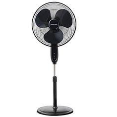 Honeywell Double Blade 16 Pedestal Fan Black With Remote Control, Oscillation, Auto-Off & 3 Power Settings - Appliances Stand Fan, Pedestal Fan, Tower Fan, Floor Fans, Desk Fan, Fan Blades, Remote, Two By Two, Black