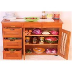 China Large Space Indoor Storage Cabinets Kitchen Cabinet Table Customized Size for sale