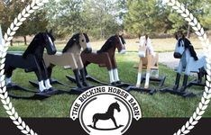 Beautiful handmade wooden rocking horses by therockinghorsebarn Mississippi, Wood Rocking Horse, Cowboy Theme Party, Phillips Screwdriver, Touch Up Paint, Amazing Decor, Wooden Projects, Cool Baby Stuff, Handmade Wooden