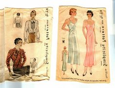 """These are a few pages from the book """"A Century of Fashion Dress Pattern Illustrations, 1898-1997."""" I ..."""