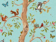 Little-Prince-Woodland-Animals-Wallpaper.jpg