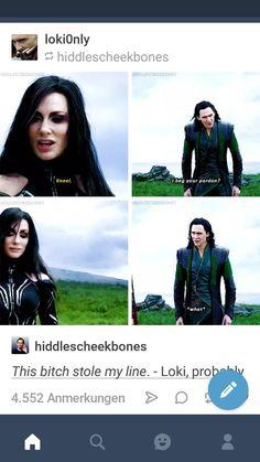 Loki and Hela look a like and act more like siblings than her and Thor Loki Thor, Marvel Dc Comics, Marvel Heroes, Marvel Avengers, Loki Laufeyson, Avengers Memes, Marvel Jokes, Marvel Funny, The Avengers