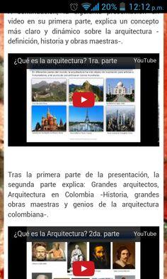 Hola a todos. Me complace compartir con uds. una imagen que representa un video-artículo, el cual trata sobre la arquitectura. Espero que les guste. Te invito a ingreses a mi blog.