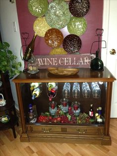 Old TV cabinet becomes a chic bar Not into the bar scene but