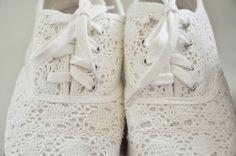 white eyelet lace keds