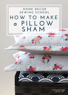 how to make a flanged pillow sham pillow sham pieces sewing pinterest sewing projects. Black Bedroom Furniture Sets. Home Design Ideas