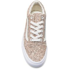 Vans Chunky Glitter Old Skool Sneaker (€54) ❤ liked on Polyvore featuring shoes, sneakers, rubber sole sneakers, glitter shoes, vans footwear, lacing sneakers and lace up shoes