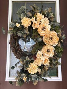 Everyday Wreath Front Door Wreath Elegant Wreath Grapevine