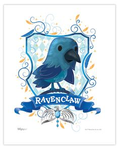 Harry Potter (Ravenclaw Watercolor) MightyPrint Wall Art MP08100452 Harry Potter Wall Art, Cute Harry Potter, Images Harry Potter, Harry Potter Drawings, Theme Harry Potter, Harry Potter Wallpaper, Harry Potter Fandom, Harry Potter Characters, Ravenclaw