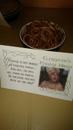 Princess Bride Party... Clergyman's Mawage Wings