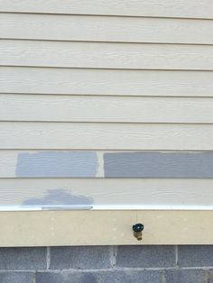 Gray Matters on the left. The darker paint is Tin Lizzie. Both by Sherwin Williams. I chose Tin Lizzie for the Lake house. Will use Harbor Bluff Century by Horizon Sherman Williams, Gray Matters, House Paint Exterior, House Painting, Paint Colors, 19th Century, Sweet Home, New Homes, Stone