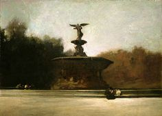 George Wesley Bellows / Bethesda Fountain (Fountain in Central Park)
