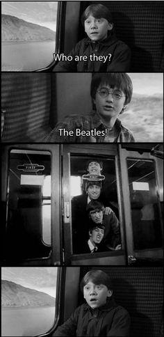 .Harry Potter & Co. meet the Beatles :)