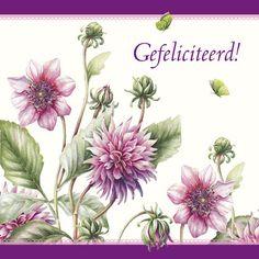 Felicitatiekaart met roze bloemen- Greetz
