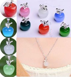 Hot Nice Apple Cat's Eye Opal Bead Charm 925 Silver Jewellry Pendant Gift #Unbranded #Pendant
