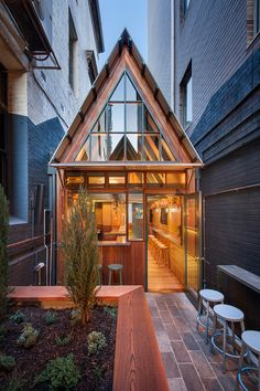 Adelaide's Pink Moon Saloon is a snug fit for a local alleyway #ArchinectProjects